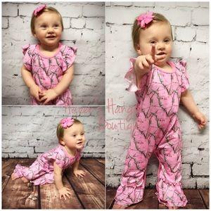 Pink Camo Baby Girl Romper